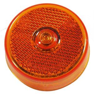 "2.5"" ROUND LED MARKER LIGHT, 5 DIODE, AMBER w / REFLEX"