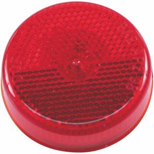 """2.5"""" ROUND MARKER LIGHT, INCANDESCENT, RED W / REFLEX"""