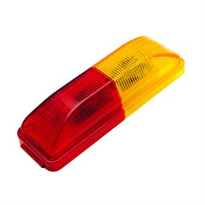"""4"""" X 1"""" MARKER LED AUXILIARY, 4 LEDS, RED & AMBER"""