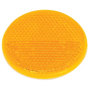 "REFLECTOR, 2.375"" ROUND, AMBER LENS, ADHESIVE-BACKED"