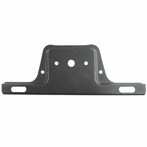 LICENSE PLATE BRACKET, BLACK METAL 2 PK