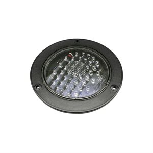"4"" ROUND STOP / TURN / TAIL, 44 RED LED, CLEAR LENS, FLANGE MNT"