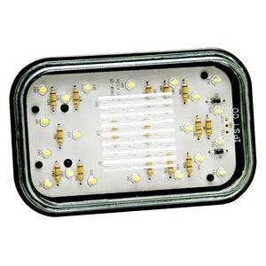 """5x3"""" LED TRAILER BACKUP LIGHT, CLEAR LENS, 28 LED"""
