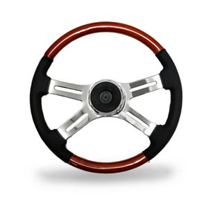 "STEERING WHEEL, 4 SPOKE W / LEATHER, 18"", 2008"