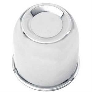 "AXLE COVER, PUSH-THROUGH CENTER, 3.25"" DIA , CHROME PLATED"