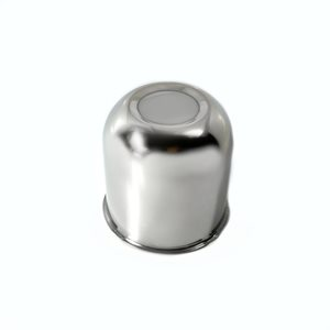 "AXLE COVER, PUSH-THROUGH CENTER,CLOSED, 3.28"" DIA , STAINLESS STEEL"