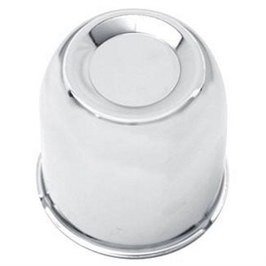 "AXLE COVER, PUSH-THROUGH CENTER, 4.25"" DIA, CHROME PLATED"