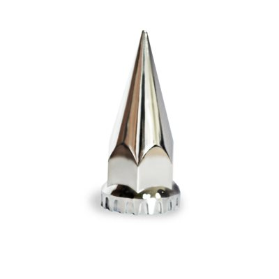 LUG NUT COVER, 33mm SCREW ON, SPIKE TIP, CHROME PLASTIC