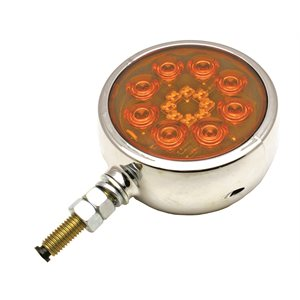 "4"" ROUND AUX. FENDER SIGNAL LIGHT, AMBER / AMBER"