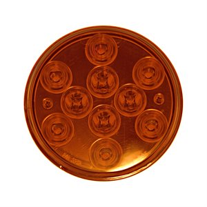 """4"""" ROUND FRONT TURN / PARK LAMP, AMBER"""