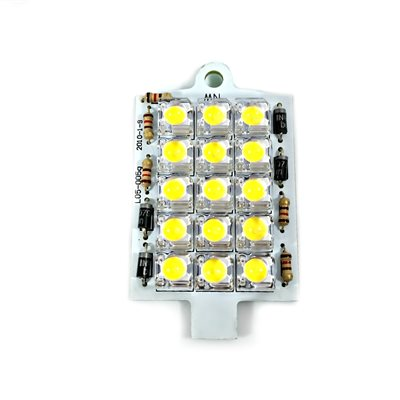 PANCAKE LIGHT BULB, 15 DIODE, AUXILIARY / TASK, W / ATTACHED CONNECTOR