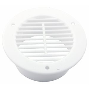 AIR VENT COVER, ROUND, WHITE