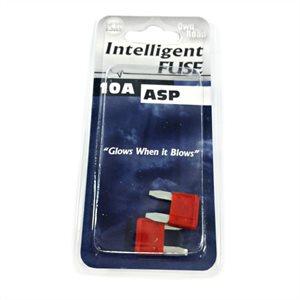 INTELLIGENT FUSE, ASP MINI BLADE SERIES, 2-PACK, 10 AMP