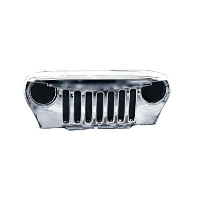 JEEP WRANGLER GRILL, 97-06 CHROME PLATED ABS / PC PLASTIC