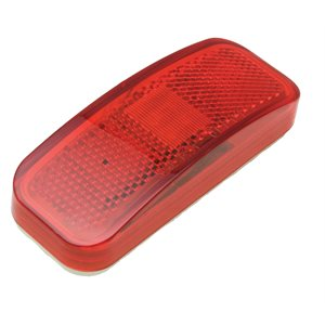"4X1.5"" MARKER LIGHT, 6 LED, RED, W / REFLECTOR, WHT. BASE"