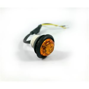 """LED AUXILIARY LIGHT, 3 / 4"""", AMBER LENS,1 DIODE, 3 WIRE, W / GROMMET"""