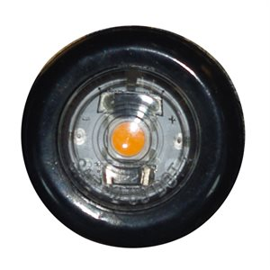 "3 / 4"" MARKER / CLEARANCE LIGHT, ,AMBER LED, CLEAR LENS"
