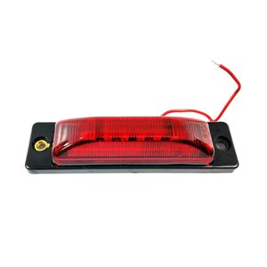 "1.5"" X5"" MARKER LIGHT, SURFACE MOUNT, 6 DIODE, RED, 1 WIRE"