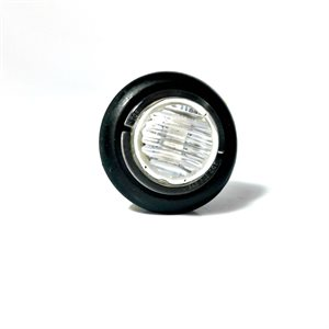 """3 / 4"""" LED MARKER / CLEARANCE, SEALED, CLEAR LENS / 2 RED DIODES, W / GROMMET"""