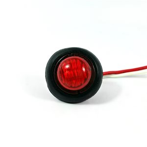 "3 / 4"" LED MARKER / CLEARANCE, SEALED, RED LENS, W / GROMMET"