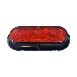 "6"" OVAL, STOP / TAIL / INDICATOR LAMP RED, 10 DIODE (SURFACE MNT)"