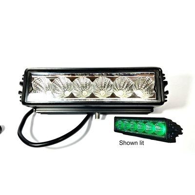 "7.9"" OFF-ROAD,SINGLE ROW LED LIGHT BAR,1350 LM, SPOT-GREEN"