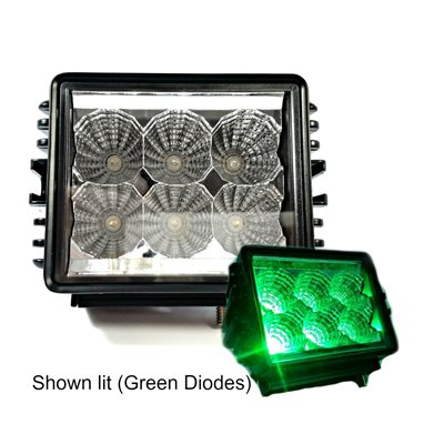 "4.6"" OFF-ROAD, LIGHT BAR, GREEN LED, DOUBLE ROW, SPOT BEAM, 1350 LM"