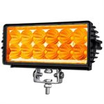 """7.9"""" OFF-ROAD, LIGHT BAR, AMBER LED, DOUBLE ROW, 1350LM-SPOT"""
