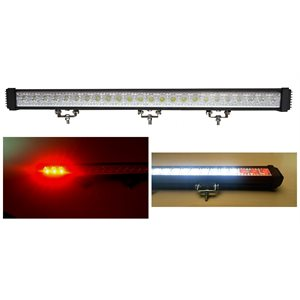 "32.67"" OFF-ROAD,RED & WHITE LED, LIGHT BAR W / AUX STOP / TURN, 5400 LM, SPOT"