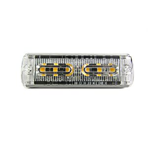 WARNING / STROBE LED LIGHT HEAD, FLASHING WHITE, ULTRA SLIM