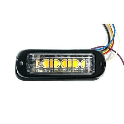 WARNING / STROBE LED LIGHT HEAD, WHITE & AMBER