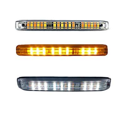 LED WARNING GRILLE FLASHER LIGHT, AMBER / WHITE