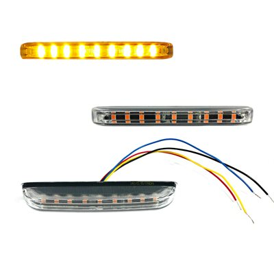LED WARNING GRILLE FLASHER LIGHT, AMBER