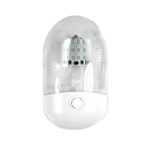 SINGLE DOME PANCAKE LED INTERIOR LIGHT, NEUTRAL WHITE W / SWITCH