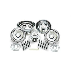 "RAM / DODGE ABS CHROME SIMULATOR SET, 19.5"" x 6"", SPIKE LUG NUT COVERS"