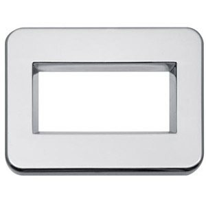 PETERBILT CHROME BEZEL, FOR ELECTRIC DISPLAY MODULE, W / EATON AUTOMATIC TRANS