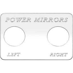 """SWITCH PLATE-""""POWER MIRRORS, LEFT / RIGHT"""" ENGRAVED"""