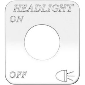 """SWITCH PLATE- """"HEADLIGHT, ON / OFF"""" ENGRAVED"""