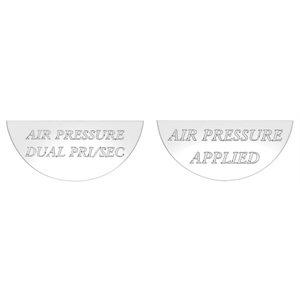 FREIGHTLINER GAUGE EMBLEM, AIR DUAL & APPL - FLD CLASSIC