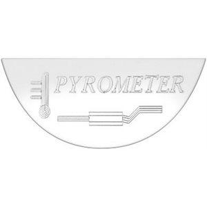 FREIGHTLINER GAUGE EMBLEM, PYROMETER - FLD CLASSIC