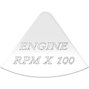 FREIGHTLINER GAUGE EMBLEM, ENGINE RPM X100 - FLD CLASSIC