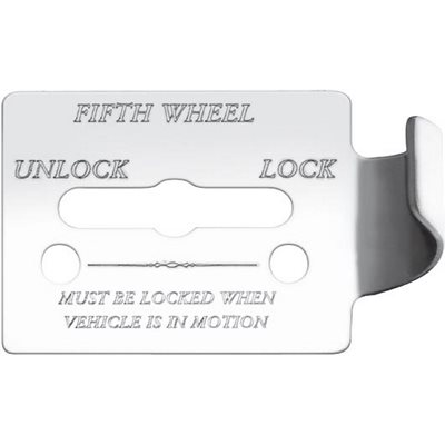 "FREIGHTLINER SWITCH GUARD PLATE, -""FIFTH WHEEL, UNLOCK / LOCK"", FLD CLASSIC, ENGRAVED"