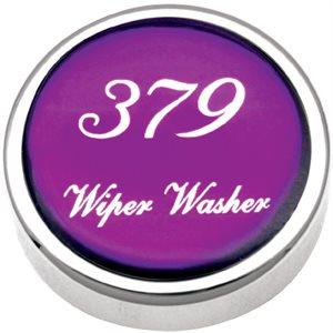 PB KNOB, PURPLE, 379 LOGO WIPER / WASHER