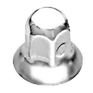 "LUG NUT COVER, 7 / 8"", SWIVEL NUT W / FLANGE, STAINLESS STEEL, FORD"