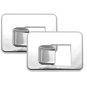 KENWORTH BEZEL-INTERIOR DOOR HANDLE FOR DAYLIGHT DOOR, CHROME, PAIR
