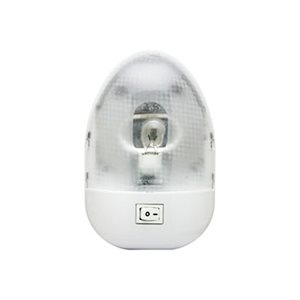 INCANDESCENT INTERIOR WHITE PANCAKE LIGHT, SINGLE DOME